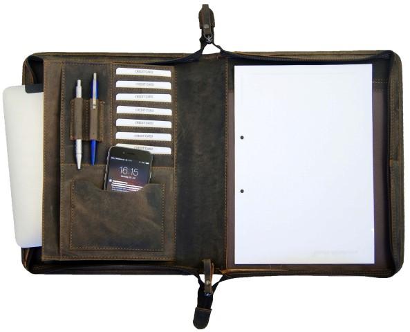 Schreibmappe A4 braun