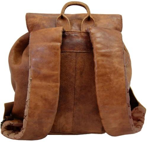 Rucksack Damen Leder breite Schulterriemen